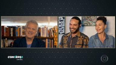 Programa de 08/09/2020 - Pedro Bial conversa com Fabiula Nascimento e Emílio Dantas. Casal fala dos desafios da quarentena e o processo de produção da série 'Amor e Sorte'