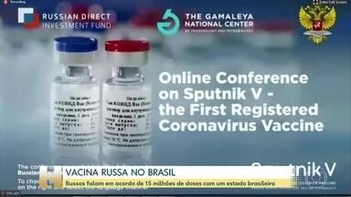 Rússia faz acordo com a Bahia para fornecer 50 mi de doses da vacina Sputinik V - O anúncio aconteceu numa coletiva. Os participantes discutiram os resultados das pesquisas e as perspectivas para o fornecimento da vacina. O governo da Bahia confirmou o acordo.