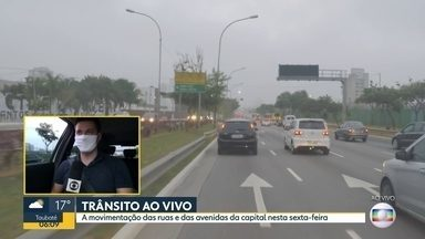 A situação do trânsito nesta manhã - Equipes do BDSP circulam pela capital nesta sexta-feira.