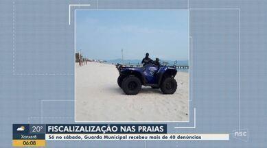 Praias de Florianópolis tem fiscalização da Guarda Municipal para evitar aglomerações - Praias de Florianópolis tem fiscalização da Guarda Municipal para evitar aglomerações