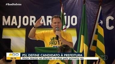 PSL oficializa o policial militar Major Araújo como candidato à Prefeitura de Goiânia - Major Araújo vai disputar o cargo de prefeito pela primeira vez e atualmente exerce o terceiro mandato de deputado estadual.