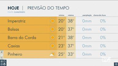 Veja a previsão do tempo para esta segunda (14) no Maranhão - Em boa parte do estado o tempo segue firme, sem previsão de chuva.