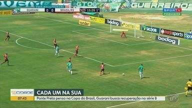 Ponte Preta pensa na Copa do Brasil e Guarani busca recuperação na Série B - Confira detalhes da situação das equipes de Campinas (SP).