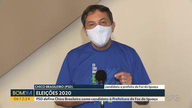 PSD define Chico Brasileiro como candidato à Prefeitura de Foz do Iguaçu - PSD realizou a convenção ontem em Foz do Iguaçu.