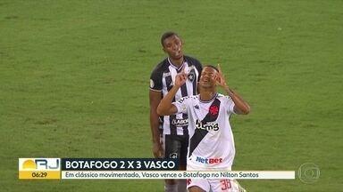 Vasco vence clássico contra o Botafogo e Fla perde para o Ceará, no Brasileirão - Em clássico movimentado, Vasco levou a melhor no Nilton Santos. O Flamengo perdeu fora de casa para o Ceará.
