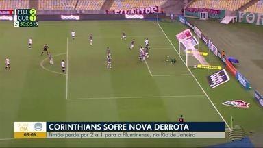 Timão perde por 2 a 1 para o Fluminense, no Rio de Janeiro - João Paulo Tílio traz os destaques do esporte.