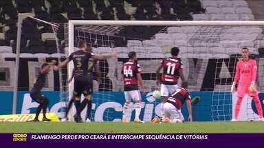 Flamengo perde para o Ceará e interrompe sequência de vitórias - Flamengo perde para o Ceará e interrompe sequência de vitórias