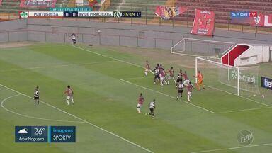 XV elimina Portuguesa com mais uma vitória e fica a dois jogos do acesso na Série A2 - Com gol contra do atacante Anselmo, Nhô Quim volta a ganhar da Lusa e carimba vaga para as semifinais.