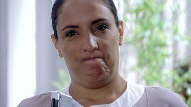 Marilda grava ameaça de Tereza Cristina - A madame aconselha a funcionária a se comportar e tomar cuidado durante o aviso prévio