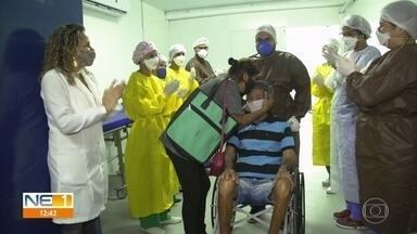 Equipamentos de hospital provisório são levados para outros hospitais do Recife - Último paciente internado no hospital provisório Recife 3, na Imbiribeira, recebeu alta no domingo (13).