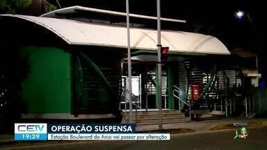 Operação da Estação do VLT Boulevard do Arco, em Sobral, será suspensa - Saiba mais no g1.com.br/ce