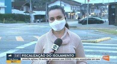Joinville aplica 76 multas em pessoas com Covid-19 não encontradas em casa - Joinville aplica 76 multas em pessoas com Covid-19 não encontradas em casa