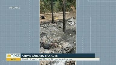 Polícia do AC investiga assassinato de família boliviana após caso de estupro - Boliviano flagrou um brasileiro estuprando sua filha, amarrou o suspeito e, enquanto chamava a polícia, teve a esposa e dois filhos assassinados. Menina foi atingida por tiros e está internada em estado grave do Pronto Socorro de Rio Branco.