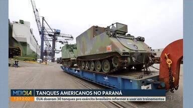 Tanques americanos são doados para o exército brasileiro - EUA doaram 30 tanques pro exército brasileiro reformar e usar em treinamentos