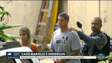 Ronnie Lessa e Élcio Queiroz entram com recurso contra júri popular - Ronnie e Élcio são acusados da morte de Marielle Franco e Anderson Gomes.