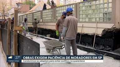 Materiais de construção estão mais caros por causa da procura na pandemia em São Paulo - Com o aumento no volume de obras, prédios e condomínios precisam se adaptar para evitar problemas entre vizinhos.