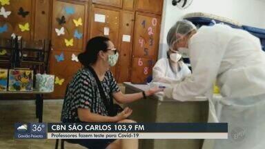 Professores da rede municipal de São Carlos são testados para Covid-19 - Veja as informações com Marina Lacerda, da CBN.