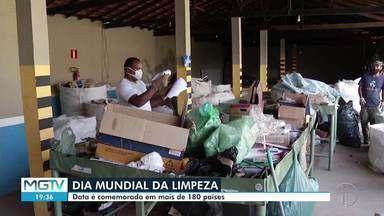 Ações são realizadas em alusão ao Dia Mundial da Limpeza em Montes Claros - Por conta da pandemia, ações tiveram o formato alterado.