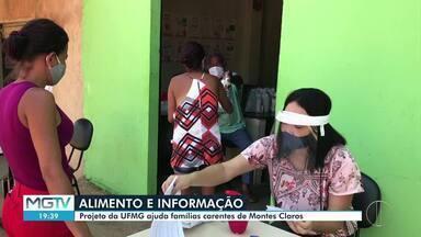 Projeto da UFMG leva alimento e informação para famílias carentes - Iniciativa é realizada na região Nordeste de Montes Claros.