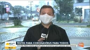 Joinville libera exame gratuito para coronavírus para pessoas sem sintomas - Joinville libera exame gratuito para coronavírus para pessoas sem sintomas