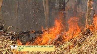 Incêndios ameaçam o plantio da safra de soja - No Centro-Oeste brasileiro as queimadas preocupam os agricultores para o plantio da safra de soja.