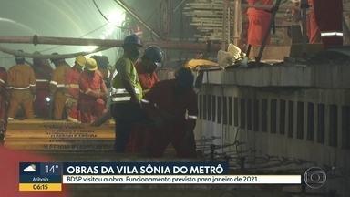 Estação Vila Sônia do Metrô deve ficar pronta no final deste ano - Linha 4-Amarela coleciona atrasos, mas Metrô promete início da operação para janeiro de 2021