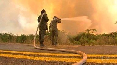Ministro do Meio Ambiente é esperado em região fortemente atingida pelo fogo em MT - Agentes da Força Nacional de Segurança também são esperados para ajudar no combate às chamas no estado.