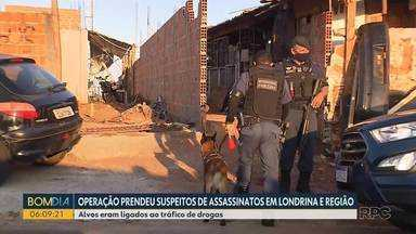 Polícia prende suspeitos de assassinatos em Londrina e região - Os alvos tem ligação com o tráfico de drogas