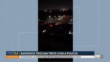 Bandidos trocam tiros com a polícia - O confronto, no bairro Cristo Rei, foi depois do furto de um carro.