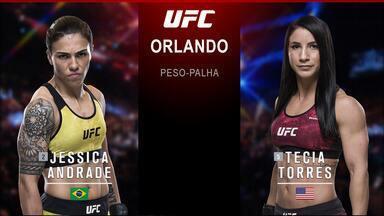 UFC Emmett x Stephens - Jéssica Bate-Estaca x Tecia Torres - Luta entre Jéssica Bate-Estaca x Tecia Torres, válida pelo UFC Emmett x Stephens - Peso-palha, em 24/02/2018.