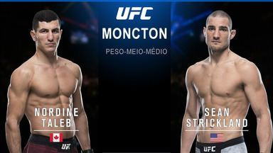UFC Moncton - Nordine Taleb x Sean Strickland - Luta entre Nordine Taleb x Sean Strickland, válida pelo UFC Moncton, em 27/10/2018.