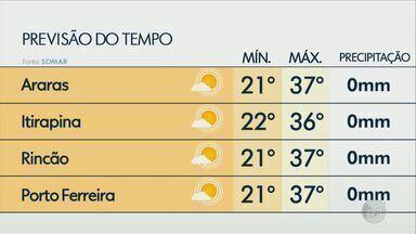 Veja como fica o tempo na região nesta segunda-feira (28) - Dia será de muito calor e baixa umidade relativa do ar.