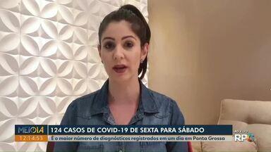 Ponta Grossa bate recorde com 124 novos casos de Covid-19 de sexta (26) para sábado (27) - Cidade tem 97 mortes e 4.898 casos confirmados da doença.