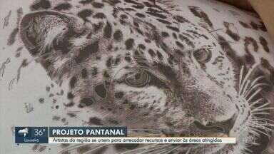 Artistas da região se unem e lançam campanha para ajudar voluntários no Pantanal - Tatuadores, designers e ilustradores criaram 'Projeto Pantanal' em busca de arrecadar dinheiro para ajudar comunidade local e fauna atingida pelo fogo.