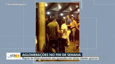 Fiscalização encerra festas com aglomerações em várias cidades goianas - Decreto estadual proíbe a realização de eventos com aglomeração de pessoas.