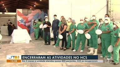 Após cinco meses, Hospital de Campanha de Santarém encerra atividades - Quase 800 pacientes foram atendidos na unidade. Pessoas que ainda estavam internadas foram transferidas para o HRBA.
