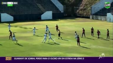 Guarany de Sobral perde para Globo em estreia na Série D do Brasileiro - Guarany de Sobral perde para Globo em estreia na Série D do Brasileiro