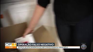 Operação Falso Negativo: Justiça aceita denúncia do MP e 15 investigados viram réus - A operação apura irregularidades em contratos para compras de testes rápidos de covid-19 pela Secretaria de Saúde do DF.