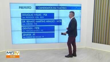 Eleições Timóteo: confira os quatro candidatos a prefeito - Prazo para registro de candidaturas terminou nesse domingo (27).