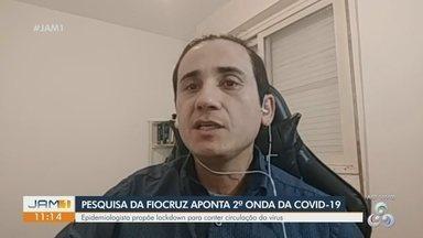Fiocruz afirma que Manaus vive segunda onda da Covid-19 - Governo do Estado determinou, desde a sexta-feira (25), fechamento de bares e casas noturnas após constatação de aumento de infecções.