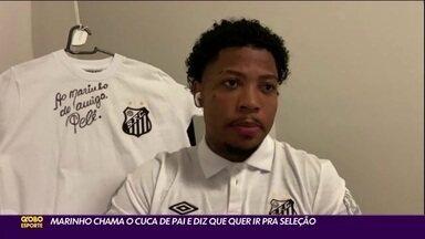 Marinho vive boa fase no Santos e sonha com a Seleção - Marinho vive boa fase no Santos e sonha com a Seleção