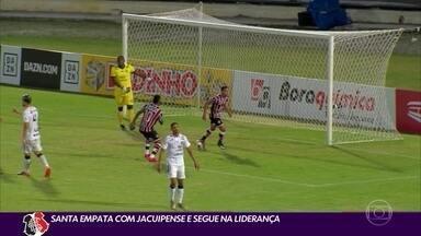 Santa Cruz empata com Jacuipense e segue na liderança - Santa Cruz empata com Jacuipense e segue na liderança