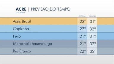 Tempo fica instável nesta terça-feira (29) no Acre - Tempo fica instável nesta terça-feira (29) no Acre