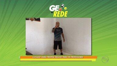 GE na Rede: Luciano Vieira propõe desafio no wrestling - Desafio reúne destaques dos Jogos Escolares TV Sergipe.