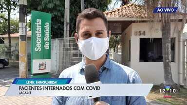 Taxa de ocupação dos leitos em Jacareí - Pacientes internados com Covid-19.
