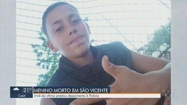Irmã que encontrou adolescente morto em São Vicente dá depoimento sobre o caso - Jovem prestou depoimento na delegacia nesta segunda-feira (28).