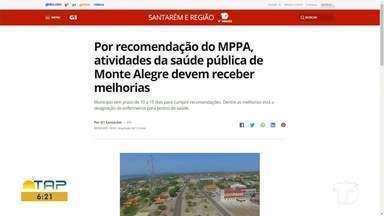 Confira o destaque do G1 Santarém e região - Acesse o portal pelo tablet, celular e computador.