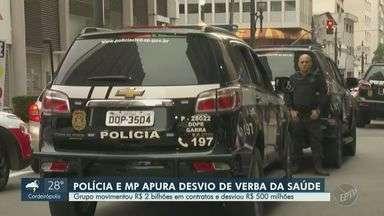 Polícia Civil cumpre mandados na região durante operação contra supostos desvios na Saúde - A ação é coordenada pela Polícia Civil de Araçatuba por meio da Divisão Especializada de Investigações Criminais (Deic) e faz parte de uma operação realizada em conjunto com o Ministério Público de São Paulo e a Polícia Federal do Pará.