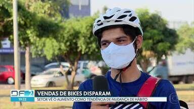 Vendas de bikes dispararam nos últimos meses - Setor acredita que o aumento veio como tendência de mudança de hábito porque mais pessoas passaram a pedalar na pandemia.