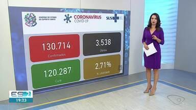 ES chega a 3.538 mortes e 130.714 casos confirmados de Covid-19 - Na comparação com os dados divulgados neste segunda-feira (28), o aumento é de 14 mortes e 918 novos casos da doença.